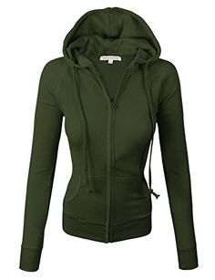 makeitmint Women's Thermal Light weight Zip Up Jacket w/ Hood >>> For more information, visit image link.