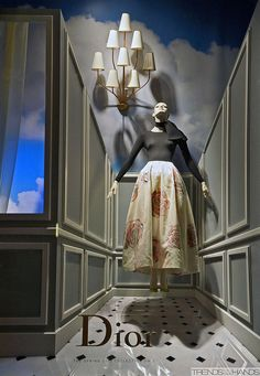 Dior window display. #retail #merchandising #window_display #surreal