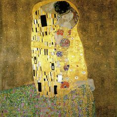 Is the painting of the famous painter Gustav Klimt, The Kiss an image of lust and love, or emphasizes it the resistance of women against sexual instincts of man, because the woman does not return the kiss? #Art #Vienna