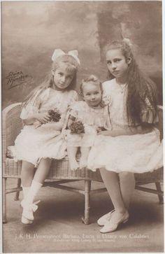 Princesses Barbara, Lucia, and Urraca of Calabria