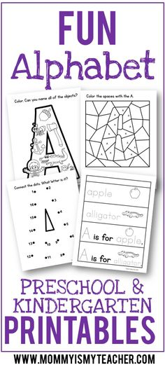 Wow, I love these fun letter of the week preschool printables! These alphabet printables are great for my tot school and preschool homeschool. Pinning for later!