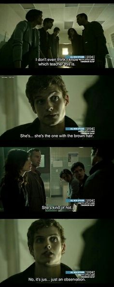 Teen Wolf - one of the million Isaac Lahey funny moments. Teen Wolf Isaac, Teen Wolf Mtv, Teen Wolf Funny, Teen Wolf Dylan, Teen Tv, Teen Wolf Cast, Teen Wolf Quotes, Teen Wolf Memes, Tyler Hoechlin