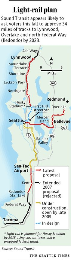Seattle Light Rail - built & proposed
