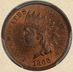 1866 Indian Head Cent obverse