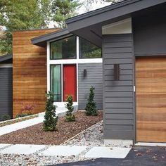 best ideas for house colors exterior modern garage House Paint Exterior, Exterior Paint Colors, Exterior House Colors, Exterior Design, Paint Colours, Modern House Design, Home Design, Design Ideas, Yard Design