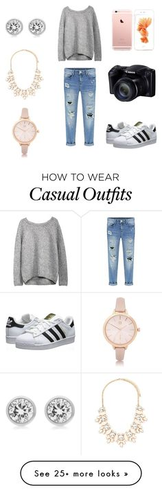 """""""Classy Casual"""" by brinkes on Polyvore featuring adidas Originals, Forever 21, River Island and Michael Kors"""