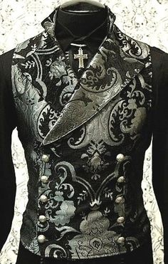SHRINE GOTHIC VAMPIRE CAVALIER SILVER VEST JACKET VICTORIAN TAPESTRY STEAMPUNK | Clothing, Shoes & Accessories, Men's Clothing, Vests | eBay!