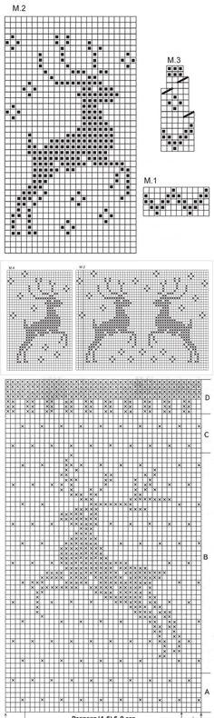 Вяжем свитер с оленями:) | Узоры спицами | Постила