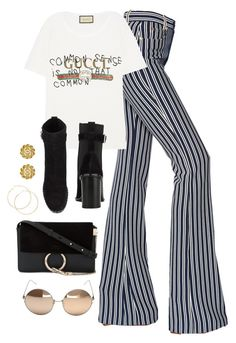 """Untitled #4221"" by magsmccray on Polyvore featuring Sonia Rykiel, Gucci, rag & bone, Chloé, Linda Farrow and Chanel"