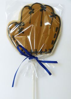 1 Dozen Baseball Glove Decorated Sugar Cookie by SweetRoseCookies
