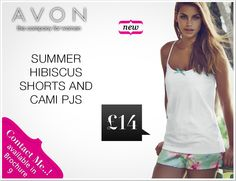 Summer Hibiscus Shorts & Cami PJs in C09 www.tinyurl.com/AvonByKat