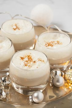 Cappuccino of Jerusalem artichoke with goat cheese mousse