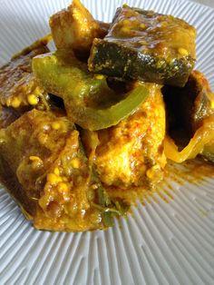 colombo, curry, curcuma, aubergines, cuisine antillaise, poisson, thon, marlin