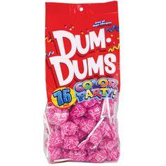 Dum Dums Color Party Hot Pink Watermelon Lollipops - Bag of 75 All Candy, Sour Candy, Dum Dums Lollipops, Party Pops, Party Fun, Nutter Butter Cookies, Giant Candy, Chocolate Covered Pretzels, Candy Bouquet