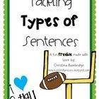 Enjoy this freebie! This includes a set of football themed cards that allow you to conduct a sentence sort with groups as a fun activity or use th. Types Of Sentences Worksheet, Grammar Sentences, Complex Sentences, Learning Support, Learning Apps, Sports Theme Classroom, Classroom Themes, Phonics Flashcards, Subject And Predicate
