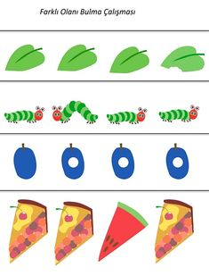The Very Hungry Caterpillar Theme Activities The Very Hungry Caterpillar Activities, Chenille, Worksheets For Kids, Pre School, Preschool Activities, Fun Crafts, Prints, Kids Room Art, Caterpillar