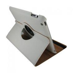 iPad cover med 360 graders roterende case - Hvid