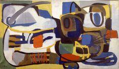 Karel Appel, Square Cat, 1951 Oil on canvas