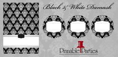 Black & White Damask Printables