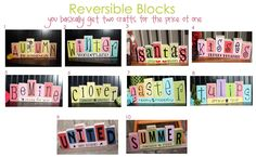 Reversible Seasonal Blocks (you pick the two layouts you want)