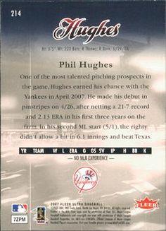 2007 Ultra #214 Phil Hughes Back