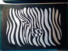 Sapato inspirado em ilusões de óptica_marcadores