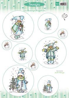 3dhm058 Knipvel Cardtopper - Snoesjes 2 - Hetty Meeuwsen - Marianne Design Knipvellen - Hobbynu.nl