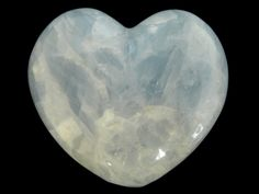 Blue Calcite Heart Large Carved Stone Meditation Intuition Gemstone by SandiLaneFineArt on Etsy