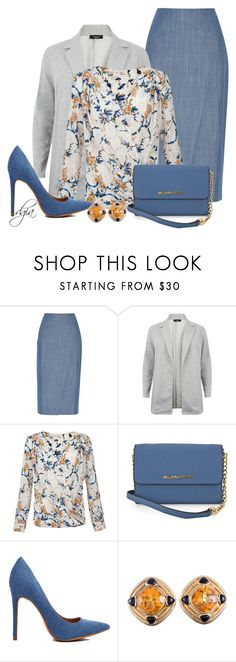 """""""Denim Skirt & Blazer"""" by dgia ❤ liked on Polyvore featuring TIBI and Michael Kors"""