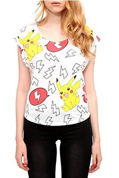 Any article of clothing with Pokemon I need.   $24.50 from Hot Topic.