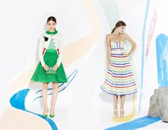 Alice + Olivia: Spring's optimistic #fashion has a new #lookbook http://styleforfree.com