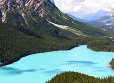This lake in Banff National Park owes its brilliant blue hue to the icy meltwater and silt from the ... - Getty Images