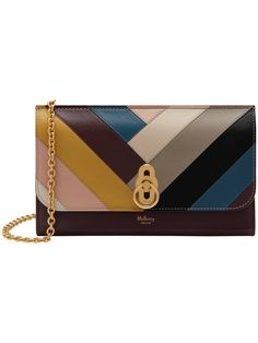00b988b4ad4 Mulberry Amberley Smooth Calf Leather Chevron Clutch Bag, Oxblood Multi