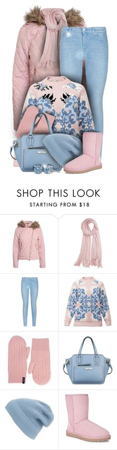 """""""Pink & Blue Jeans Outfit"""" by helenehrenhofer ❤ liked on Polyvore featuring Pilot, Calypso St. Barth, 7 For All Mankind, Tak.Ori, GANT, Nine West, Phase 3, UGG Australia, women's clothing and women"""