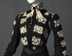 Fripperies and FobsPaquin bodice ca. 1900-03  From the Smith College Historic Costume Collection - See more at: http://fripperiesandfobs.tumblr.com/#sthash.yXrkxamA.dpuf