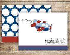 Personalizados papelería infantil rayas y lunares Nota por OandD