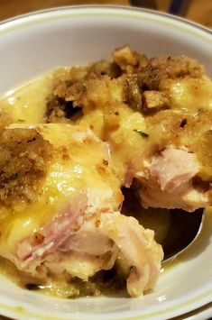 """Slow Cooker Chicken Cordon Bleu 