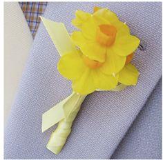 daffodil boutonniere | ... : Bella Figura , cake: RealSimple , Daffodil boutonniere : Brides.com