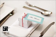 wedding table place card