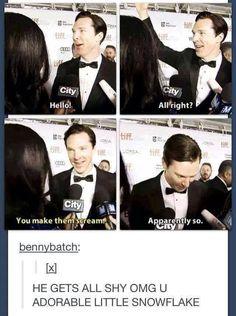 Adorable little snowflake is the best description of Benedict EVER