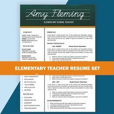 A Simple U0026 Creative Design Elementary Teacher Resume Template Is Fully  Editable On MS Word.