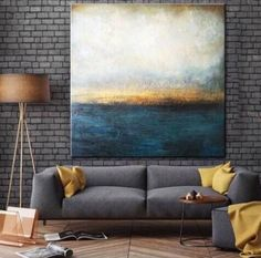 Large Oil Painting Original Canvas Blue Abstract Painting Gray Painting Sunset Painting Contemporary Art Abstract Living Room Wall Art - ALL ABOUT Blue Abstract Painting, Abstract Canvas, Abstract Painting Ideas On Canvas, Diy Abstract Art, Best Abstract Paintings, Large Canvas Art, Large Art, Blue Canvas, Contemporary Abstract Art