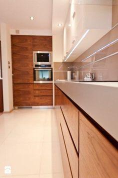 Mieszkanie Kraków realizacja - Średnia otwarta kuchnia w kształcie litery l, styl nowoczesny - zdjęcie od All Design Agnieszka Lorenc