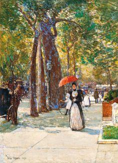 Fifth Avenue at Washington Square, New York (1891) Frederick Childe Hassam
