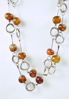 Holly Masterson Long Carnelian Nugget Bead Necklace » Santa Fe Dry Goods | Clothing and accessories from designers including Issey Miyake, Rundholz, Yoshi Yoshi, Annette Görtz and Dries Van Noten