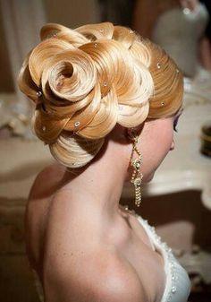 Elegant wedding hair style...