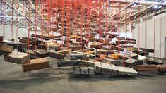 "Snapshot: Chiharu Shiota: Accumulation: Searching for Destination (Galerie Templon) at Art Basel Unlimited June Info text: ""Shiota's installa."