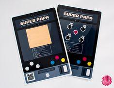 Trop top cette carte  Le Jeu à Gratter SUPER PAPA (Fête des Pères) free printable / DIY - Sanglota.com