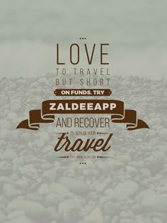 Love to travel but short on funds? #ZaldeeApp comes to rescue. Recover 25-30% of your travel cost by using ZALDEE App. ❤️ Download ZALDEE app. It's FREE  Zaldee® - earn while you travel®, is the coolest way to earn money from excess baggage space available with you while traveling anywhere. ✈️ Sender - Send your package to anyone anywhere anytime #ZALDEE #EarnWhileYouTravel #ZaldeeApp #ShipOnDemand #package #luggage #baggage #LoveZaldeeApp #shipping #SharingEconomy #sharing #journey #courier