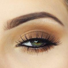 Soft brown eyes